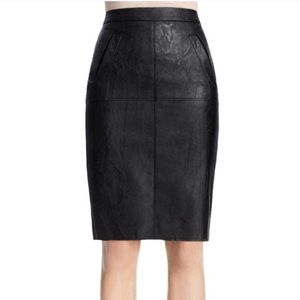 CABI Faux Leather Pleather Pencil Skirt #